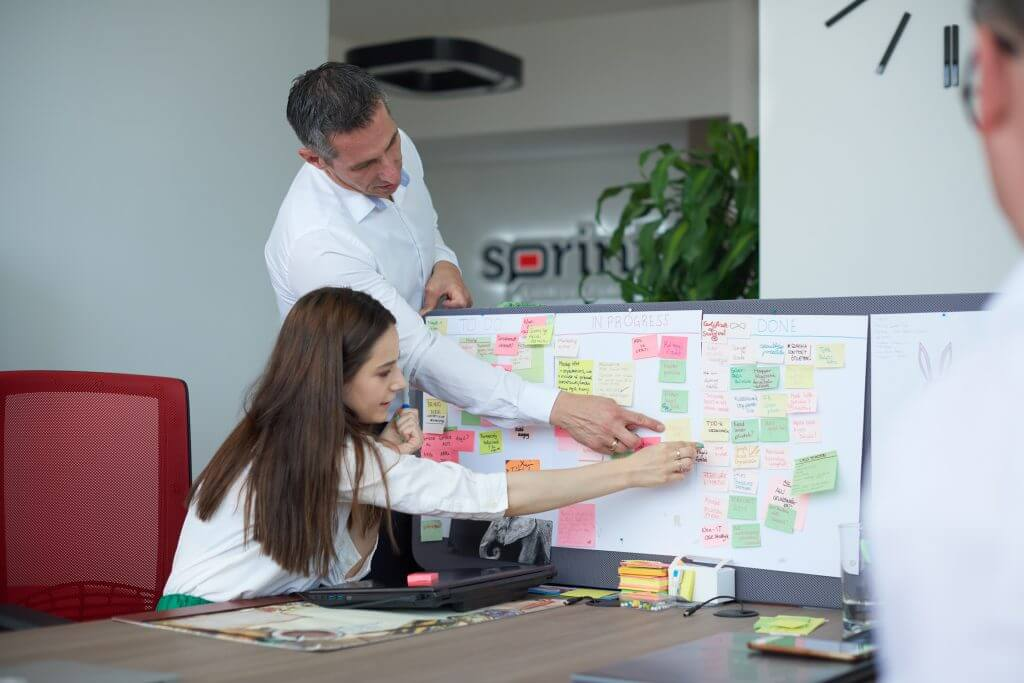 Marketing planning with agile techniques and post-its