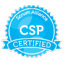 Certified Scrum Professional (CSP) badge issued by Scrum Alliance