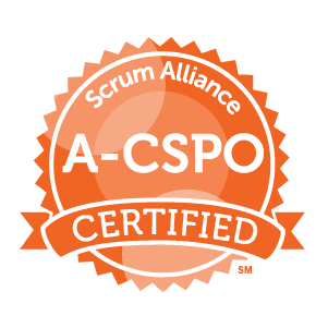 Advanced Certified Scrum Product Owner certification badge by Scrum Alliance