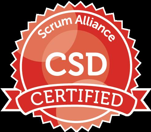 Certified Scrum Developer badge issued by Scrum Alliance.